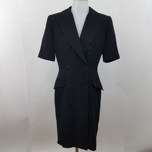 Linda Allard Ellen Tracy Dress 2 Black Button Fron